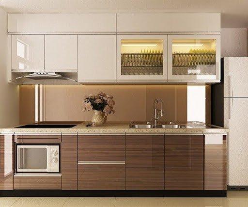 Tủ bếp gỗ công nghiệp đem lại giá trị thẩm mỹ cao cho không gian nhà bếp