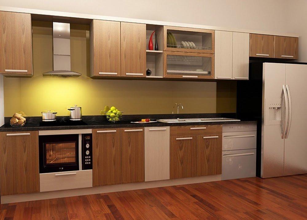 Tủ bếp nhựa phủ Laminate có độ bền đẹp cao