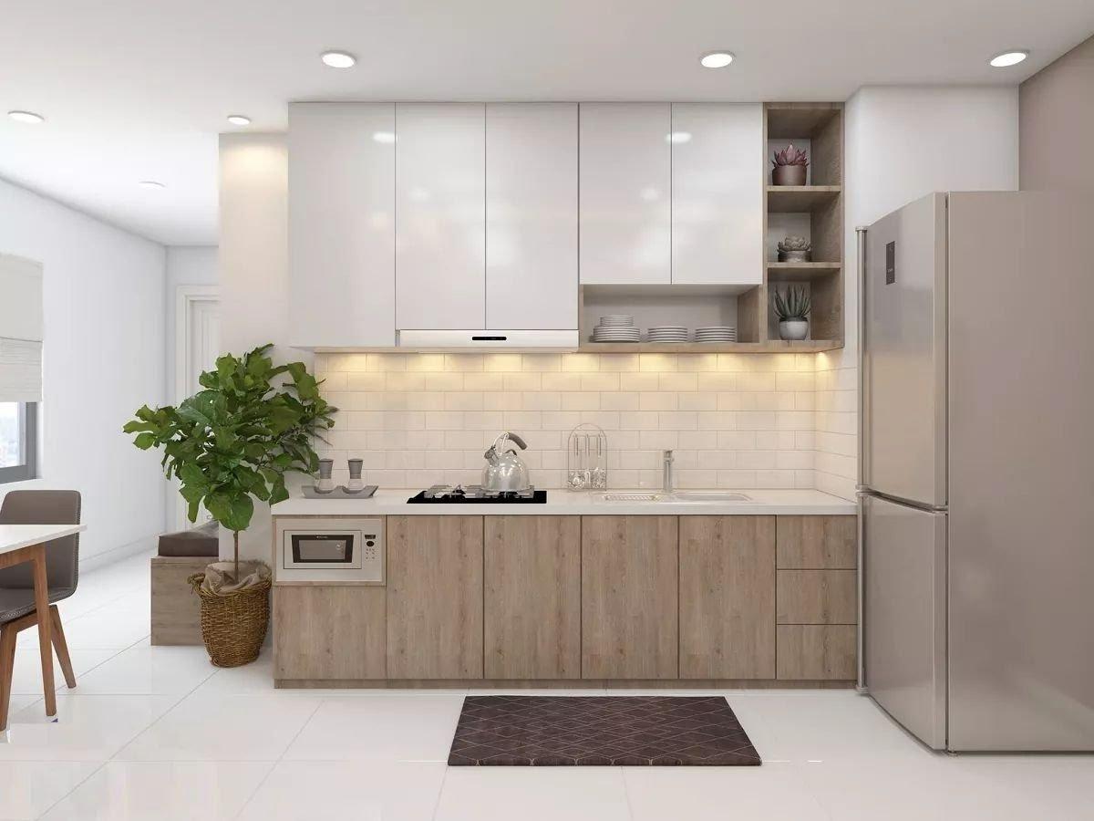 Tủ bếp bằng nhựa Đài Loan đa dạng màu sắc cho khách hàng lựa chọn