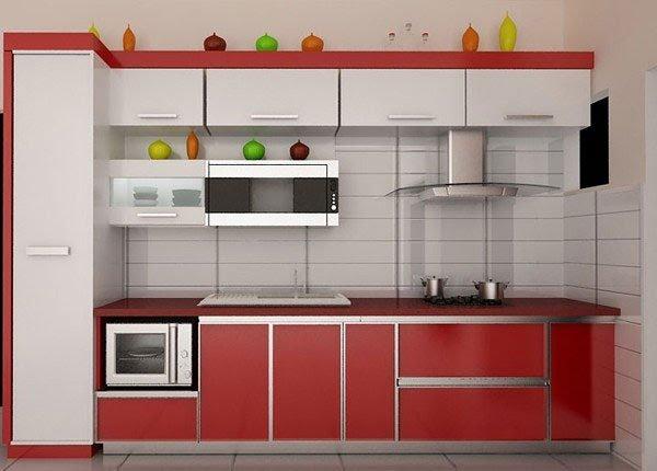 Tủ bếp chữ I phù hợp với những gian bếp có diện tích nhỏ