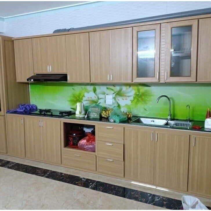 Tủ bếp bằng nhựa vân gỗ sở hữu nhiều ưu điểm nổi bật